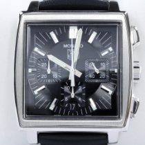 TAG Heuer Monaco gebraucht 38mm Chronograph Leder
