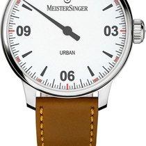 Meistersinger Urban Steel 40mm White Arabic numerals
