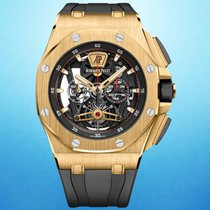 Audemars Piguet Yellow gold Manual winding Transparent 44mm new Royal Oak Offshore Tourbillon Chronograph