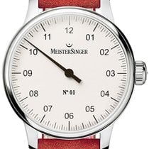 Meistersinger N° 01 Steel 40mm White Arabic numerals
