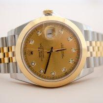Rolex ny Automatisk Skruekrone 41mm Gult guld Safirglas