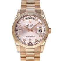 Rolex Rose gold Automatic Pink 36mm pre-owned Day-Date 36