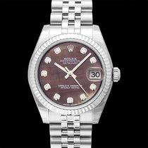 Rolex 178274 G Or blanc 2018 Lady-Datejust 31.00mm nouveau