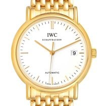 IWC Yellow gold Automatic White 37mm pre-owned Portofino (submodel)