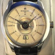 Perrelet Classic Double Rotor Steel 40mm Silver No numerals