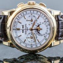 Patek Philippe Perpetual Calendar Chronograph Gelbgold 40mm Silber Keine Ziffern