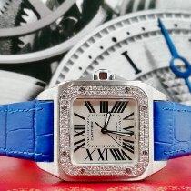 Cartier Santos 100 Acciaio 33mm Bianco Romani Italia, CASTELD'ARIO(MN)
