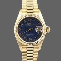 Rolex Lady-Datejust Gelbgold 26mm Blau Keine Ziffern Deutschland, Mannheim