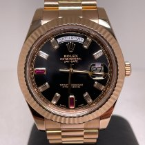 Rolex Day-Date II Or rose 41mm Noir Romains