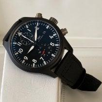 IWC Ceramic Automatic Black Arabic numerals 44mm new Pilot Chronograph Top Gun