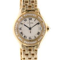 Cartier Cougar Желтое золото 26mm Белый Римские