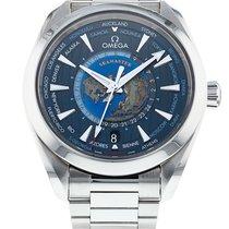 Omega Acier Remontage automatique Bleu Sans chiffres 43mm occasion Seamaster Aqua Terra