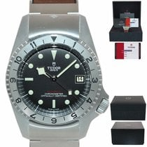 Tudor Steel Automatic Black 42mm pre-owned Black Bay Steel