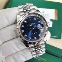 Rolex Datejust Сталь 41mm Синий Без цифр
