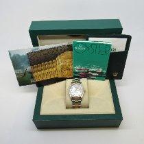 Rolex Oyster Perpetual Date Золото/Cталь 34mm Перламутровый Без цифр