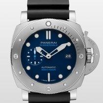 Panerai Luminor Submersible 1950 3 Days Automatic Titanium 47mm Blue No numerals