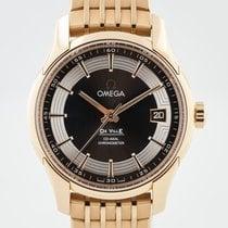 Omega De Ville Hour Vision Rose gold 41mm Brown No numerals