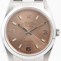 Rolex Air King Precision Stahl 34mm Pink