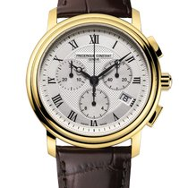 Frederique Constant Classics Chronograph Yellow gold 40mm Silver