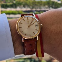 Omega Genève Yellow gold 34mm Champagne No numerals