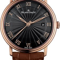 Blancpain Villeret Ultra-Slim Rose gold 40mm Black