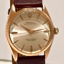 Rolex Oro rosa Automático Champán Sin cifras 34mm usados Oyster Perpetual 34