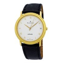 Blancpain Yellow gold Automatic Black Roman numerals 34mm pre-owned