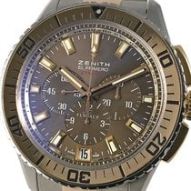 Zenith El Primero Stratos Flyback Gold/Steel 45,5mm Brown No numerals
