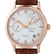 Zenith Rose gold Automatic Silver Arabic numerals 37mm pre-owned Elite Power Reserve