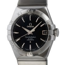 Omega Constellation Men Acero 38mm Negro