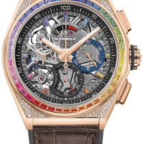 Zenith Rose gold Automatic Grey new Defy