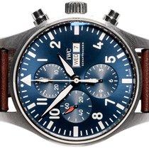 IWC Pilot Chronograph Сталь 43,00mm Синий Aрабские