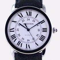 Cartier Stahl Automatik Weiß Römisch 36mm neu Ronde Croisière de Cartier