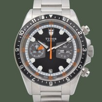 Tudor Heritage Chrono Steel 42mm Black No numerals