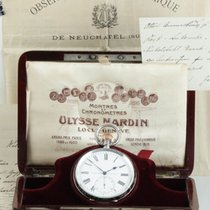Ulysse Nardin Watch pre-owned 1907 Silver 58mm Roman numerals Manual winding Watch with original box and original papers