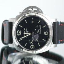 Panerai Luminor 1950 3 Days GMT Power Reserve Automatic Steel 44mm Black Arabic numerals