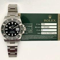 Rolex Ceramic Automatic Black No numerals 40mm pre-owned Submariner Date
