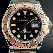 Rolex Yacht-Master 40 Guld/Stål 40mm Svart Inga siffror