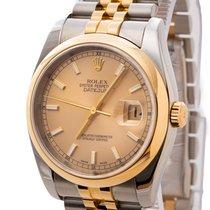 Rolex Datejust usado 36mm Ouro Data Ouro/aço