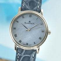 Blancpain White gold Automatic Mother of pearl 29mm pre-owned Villeret Ultra-Slim