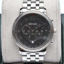 Montblanc Tradition Steel 42mm Black Roman numerals