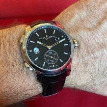 Ulysse Nardin Dual Time pre-owned 42mm Black Date GMT Crocodile skin