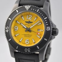 Breitling Superocean pre-owned 46mm Yellow Date Rubber