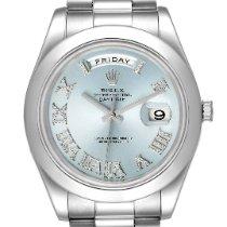 Rolex Day-Date II Platinum 41mm Blue Roman numerals United States of America, Georgia, Atlanta
