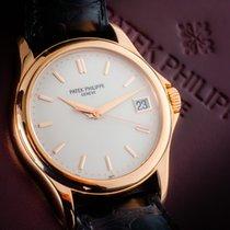 Patek Philippe Calatrava Rose gold 37mm White No numerals