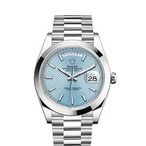 Rolex Platinum Automatic Blue 40mm new Day-Date 40
