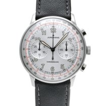 Junghans Meister Telemeter pre-owned 40.8mm Silver Leather