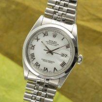 Rolex Datejust Stahl 36mm Weiß