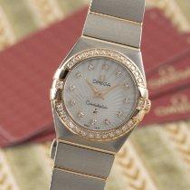 Omega Constellation Quartz ikinci el 24mm Sedef Altın/Çelik