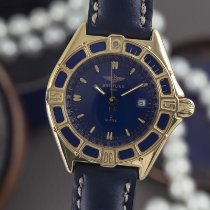 Breitling Lady J Yellow gold 31mm Blue